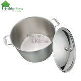 mc2 20 quart stock pot with lid off